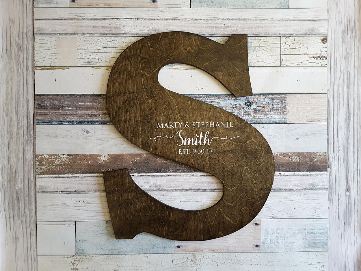 Letter Guest Book Distressed Letter Sign Wood Letters Wedding Guest Book Alternative Guest Book Sign Wood Guest Book Wood Cutout