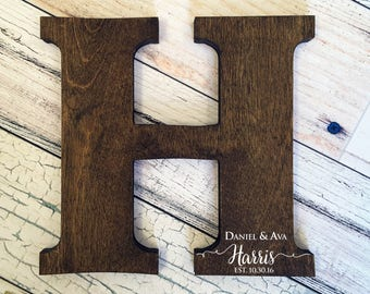Letter Guest Book, Distressed Letter Sign, Wood Letters, Wedding Guest Book Alternative, Guest Book Sign, Wood Guest Book, Wood Cutout