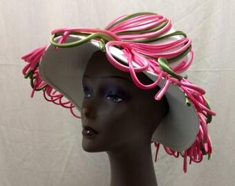 dummy pacifier heart clip hair headband baby girl pink tulip bow