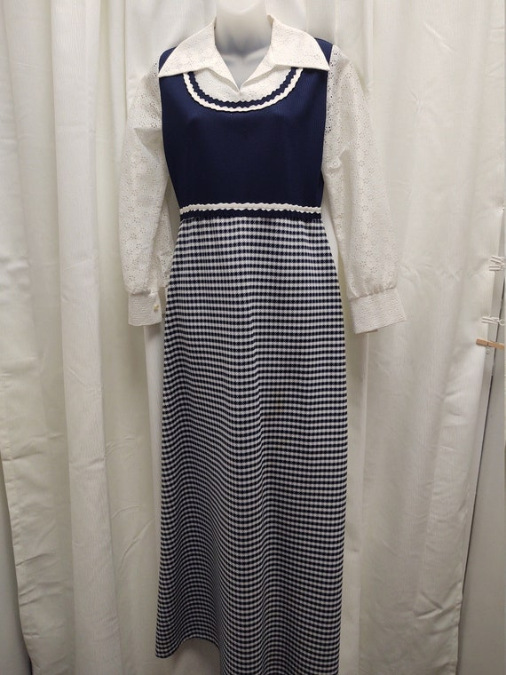 1970s Boho Hippie Maxi Dress