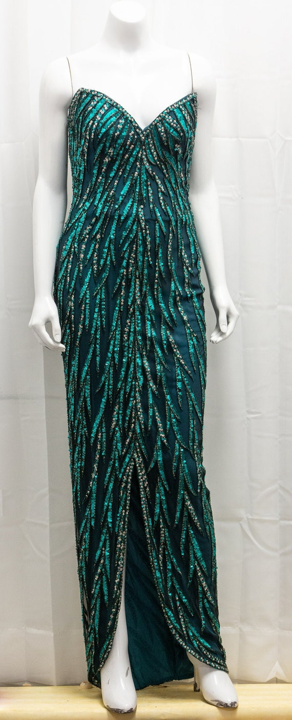 Bob Mackie Strapless vintage sequined gown
