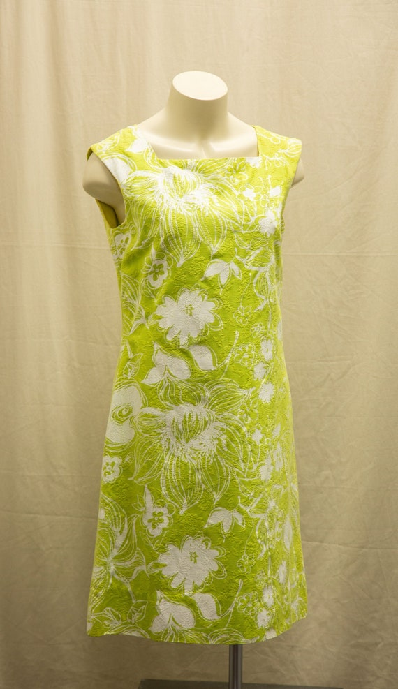 Summer Sheath 1960's floral Alex Coleman Dress