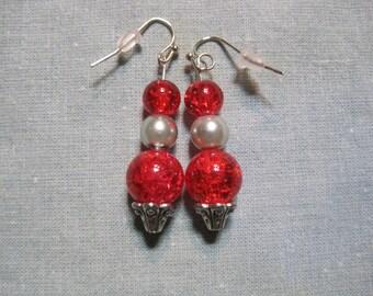 4a094432a Red & Silver Orb Earrings