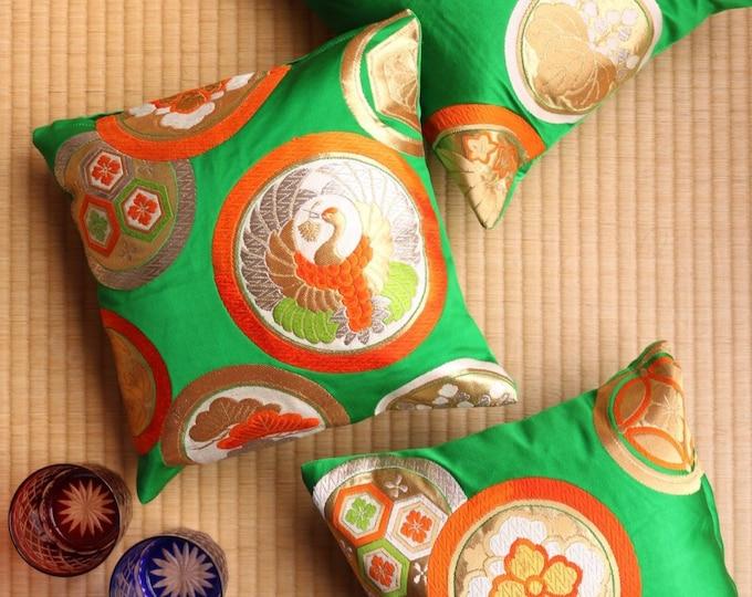 Small Japanese Obi Pillow Case Set