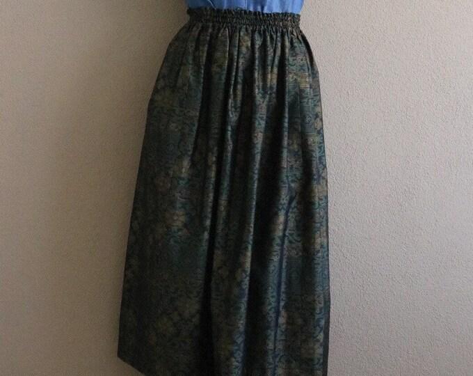 Vintage Japanese Oshima Tsumugi Ikat Kimono Skirt SARA