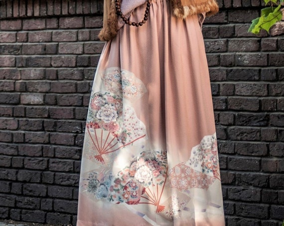 Japanese Kimono Skirt AYANO