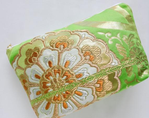 Japanese Kimono Obi Makeup Bag
