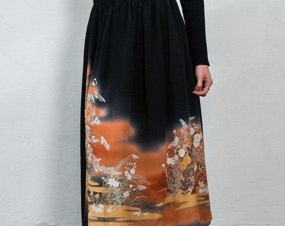 Japanese Kimono Skirt REN