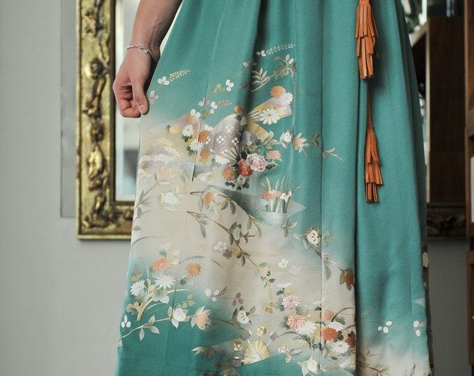 Japanese Tsukesage Kimono Skirt CHIHARU