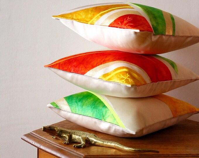 Small Japanese  Obi Pillow Case