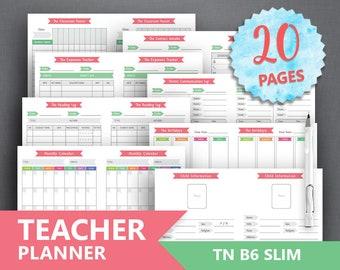 teacher planner printable teacher binder study etsy