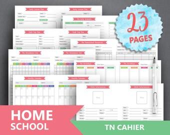 homeschool planner printable teacher planner etsy