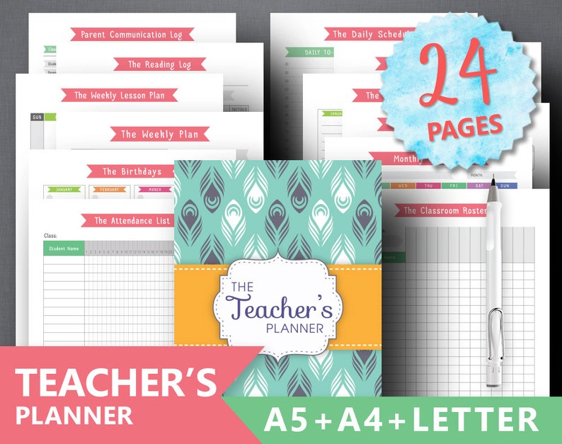 image about Teacher Binder Printables titled Trainer Planner Printable \