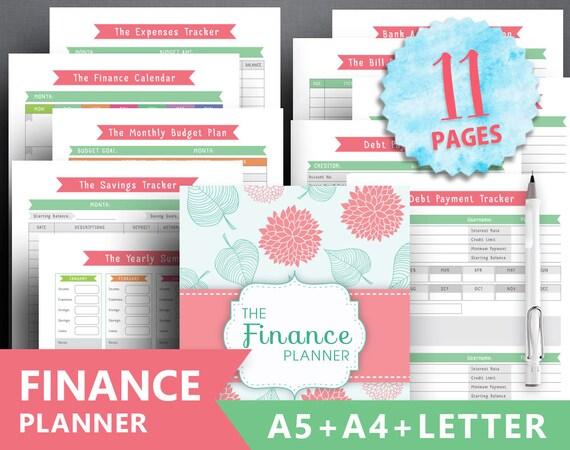 Financial Planner Printable FINANCE TRACKER