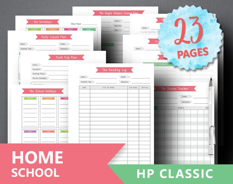 photo about School Planner Printable identified as HP Clic Dwelling College Planner Printable \
