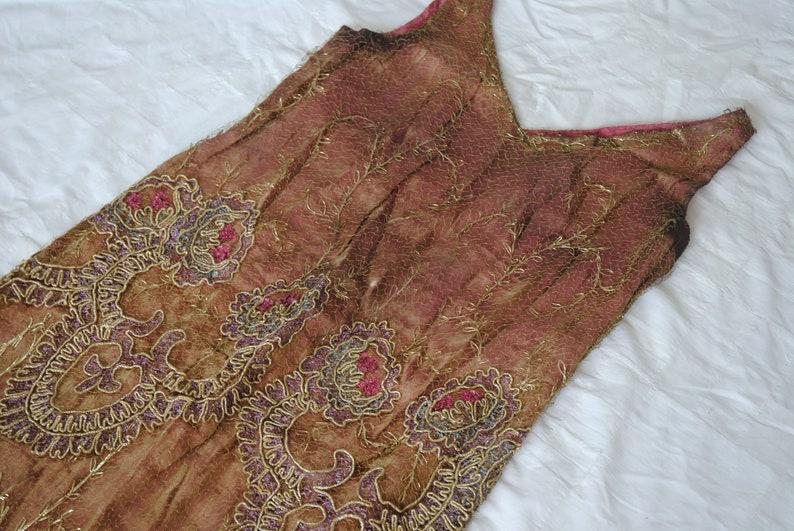 8de81003d73 RARE 1920s lamé dress // Antique flapper 20s dress // gold | Etsy