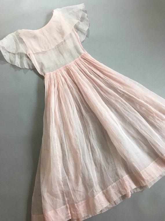 Vintage 1930s pink organza dress - image 2