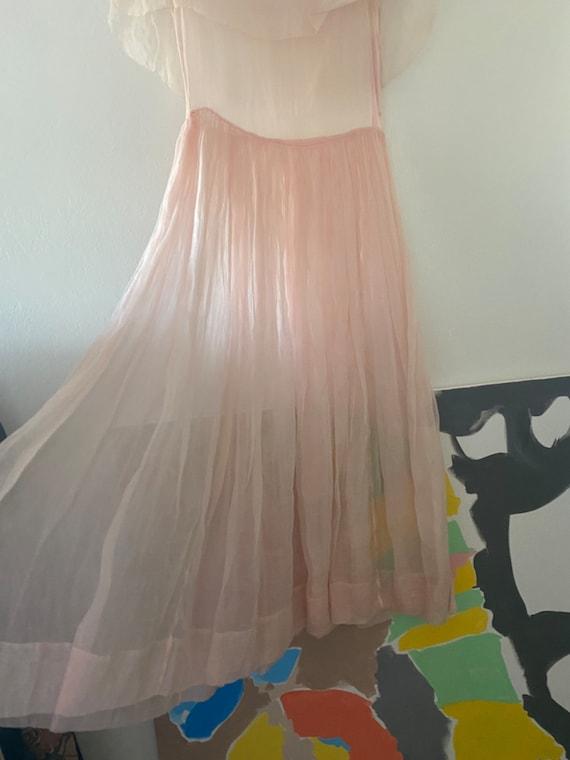 Vintage 1930s pink organza dress - image 5