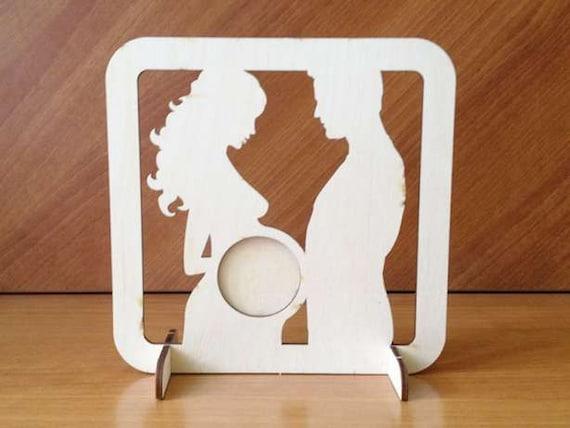 Ultrasonido ultrasonido cuadro marco madera marco silueta bebé