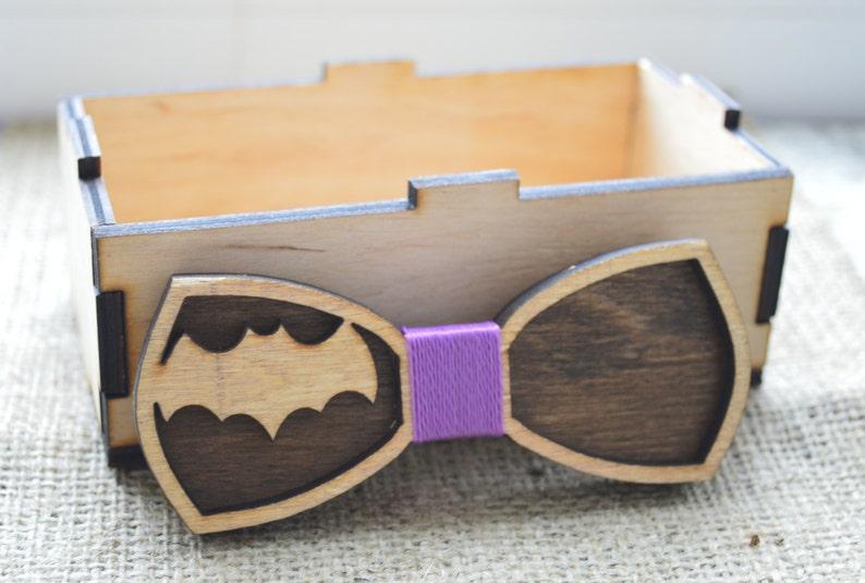 Boyfriend Gift Wooden bow tie Batman bow tie for men | Etsy