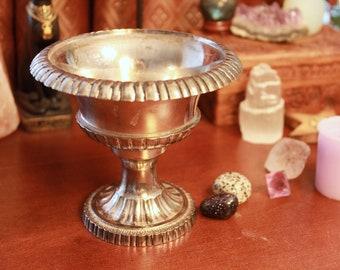 Vintage Heavy Metal Chalice - Wicca - Altar - Goblet - Ornate - Decor - Magic - Pagan - Ceremonial - Ornate - Victorian