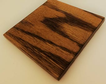 """Natural Red Oak Drink Coasters - 3.5""""x3.5"""" - Set of 4 - Multiple colors available"""