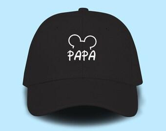 b3ce3d4d Papa Mickey Mouse Disney Dad Cap Emboidery Baseball Cap Unisex Size Hat  Pinterest Instagram Tumblr