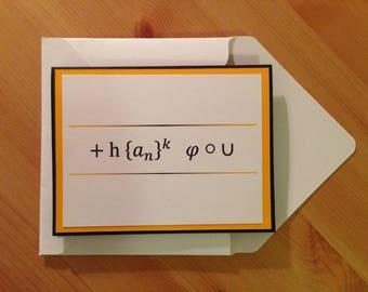Thank You - Math themed thank you card - Geek thank you card - Maths thank you card