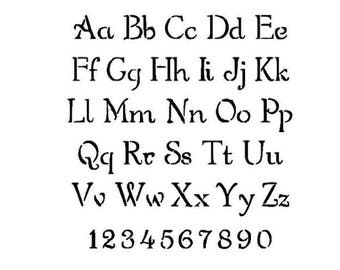 stencils crafts templates scrapbooking alphabet stencil no11 a4 mylar