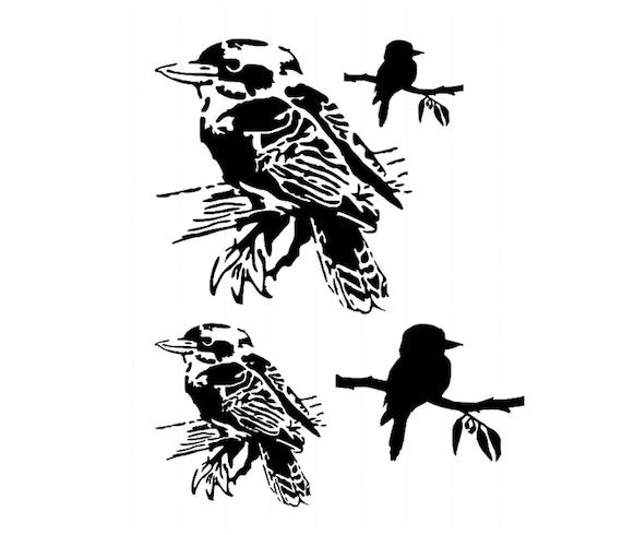 Crow Raven Bird Stencil A4//A5//A6