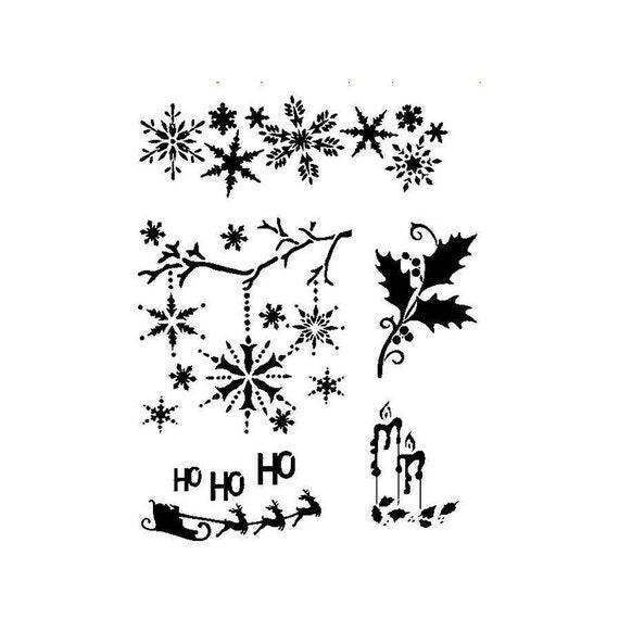 A4 Mylar STENCILS CraftsTemplates Scrapbooking CHRISTMAS STENCIL 1