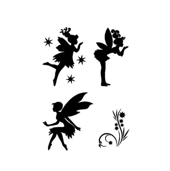 Stencils Crafts Templates Scrapbooking Fairies 09 Stencil A4 Mylar