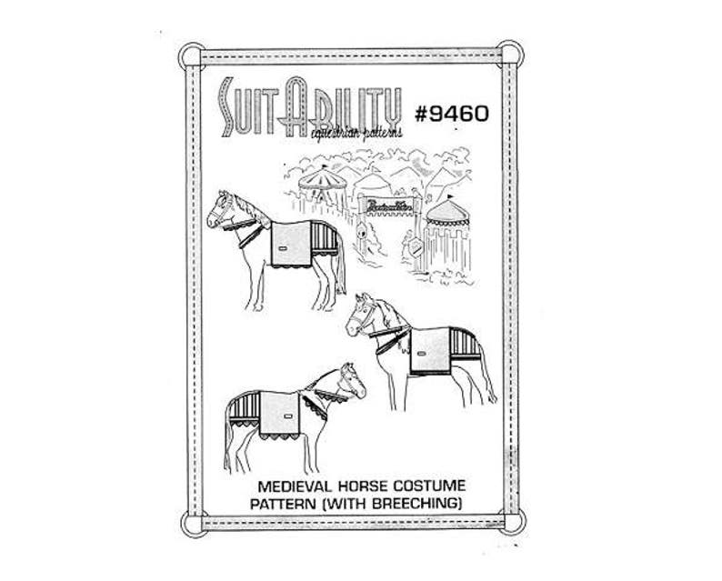Suitability 7700 Horses Fly Mask Equestrian Sewing Pattern