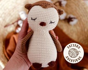 Amigurumi Crochet Pattern Sleepy Owl by Mister O'Lui PDF English and German