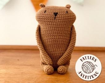 amigurumi crocher pattern - beaverbear - by Mister O'Lui - PDF - english and german