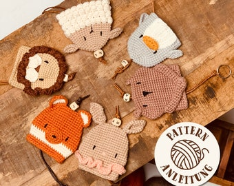 Bundle Amigurumi Crochet Pattern Keycover - by Mister O'Lui PDF English and German
