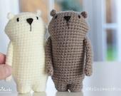 Mr. Luiwood mini crochet Amigurumi pattern LuiLuh.handmade language english and german