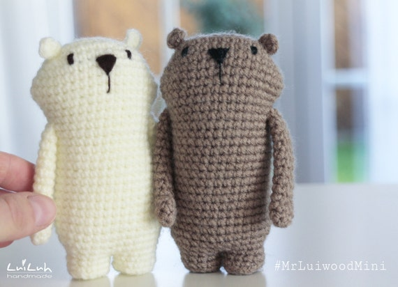 Mr Luiwood Mini Crochet Amigurumi Pattern Etsy