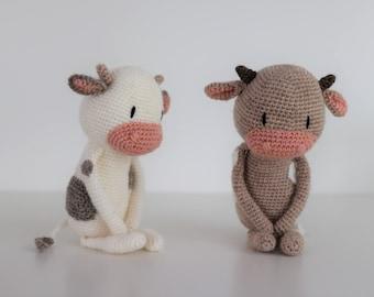 LuiCow ** Amigurumi Crochet pattern Mr. Luiwood PDF cow