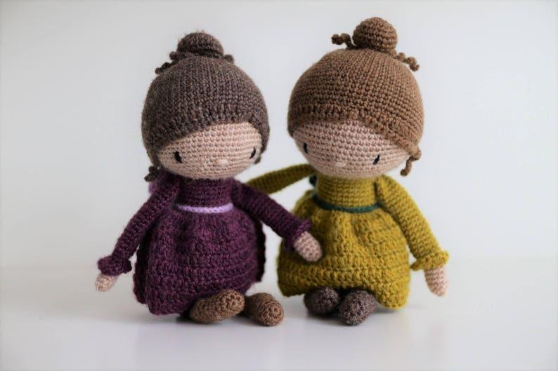 Miss Luisa crochet amigurumi pattern doll pdf diy image 0