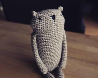"Amigurumi crochet pattern "" Mr. Luiwood "" *big size*  bear beaver * languages: english * PDF"