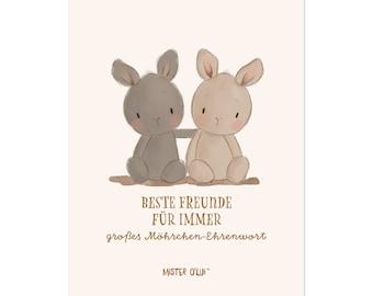 Postkarten Hasen - Beste Freunde für immer - von Mister O'Lui