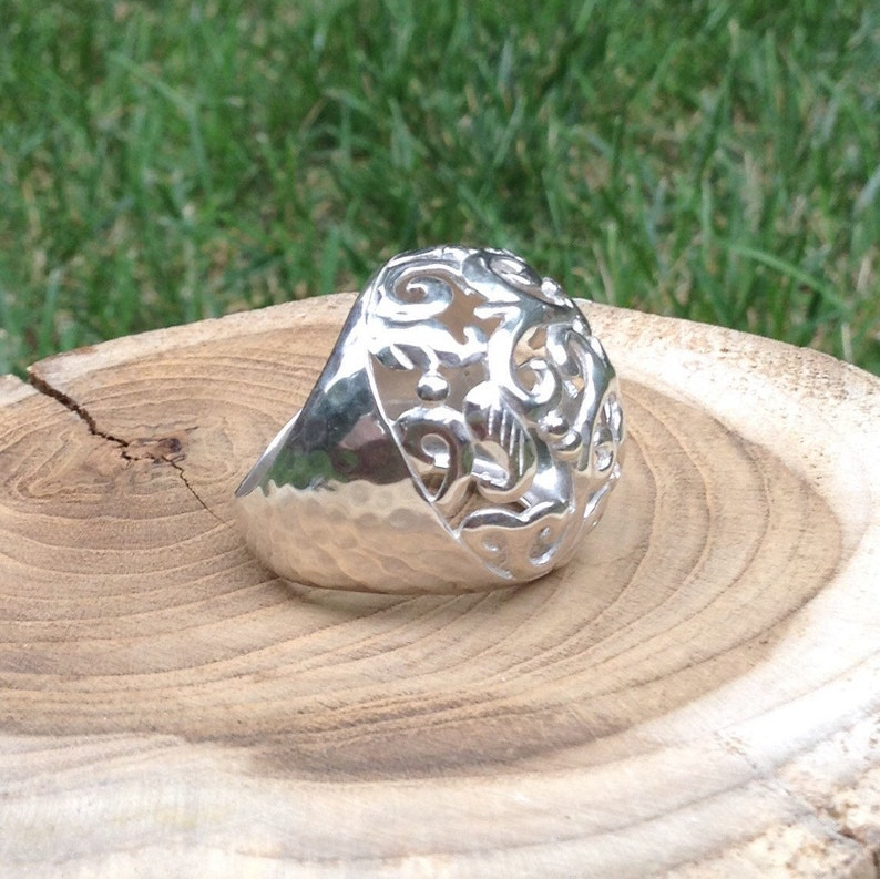 Swirly Girl Filigree Dome Ring By Silpada Designs Sterling Silver R2983 Vintage Retired