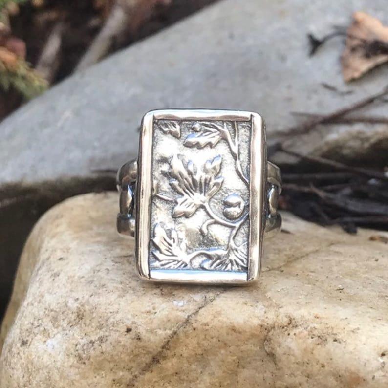 06c9ee302 R1839. Floral Leaf Vine Sterling Silver Ring by Silpada | Etsy