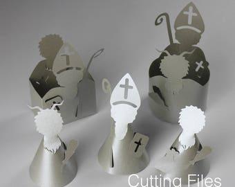 Plotter file for Saint Nicholas [Nikolaos of Myra. Christmas. Cutting file. Plotter. Silhouette. DXF. SVG.]