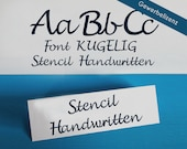"Stencil Font for Cutting Machines ""KUGELIG Stencil Handwritten"" [commercial licence]"