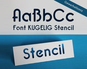 "Stencil Font for Cutting Machines ""KUGELIG Stencil"" [commercial licence]"