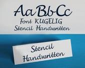"""Stencil Font for Cutting Machines """"KUGELIG Stencil Handwritten"""""""