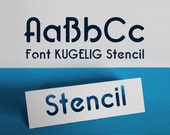 "Stencil Font for Cutting Machines ""KUGELIG Stencil"" [private licence]"