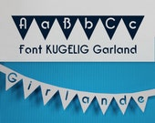 Plotter Font for Garlands + Buntings to create individual Cutting Files like Cake Toppers, Ribbons, Stencils...